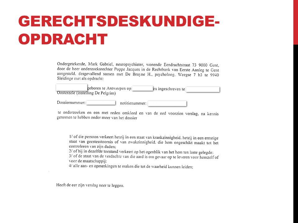 GERECHTSDESKUNDIGE- OPDRACHT