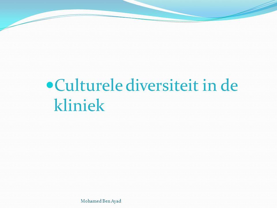 Culturele diversiteit in de kliniek Mohamed Ben Ayad