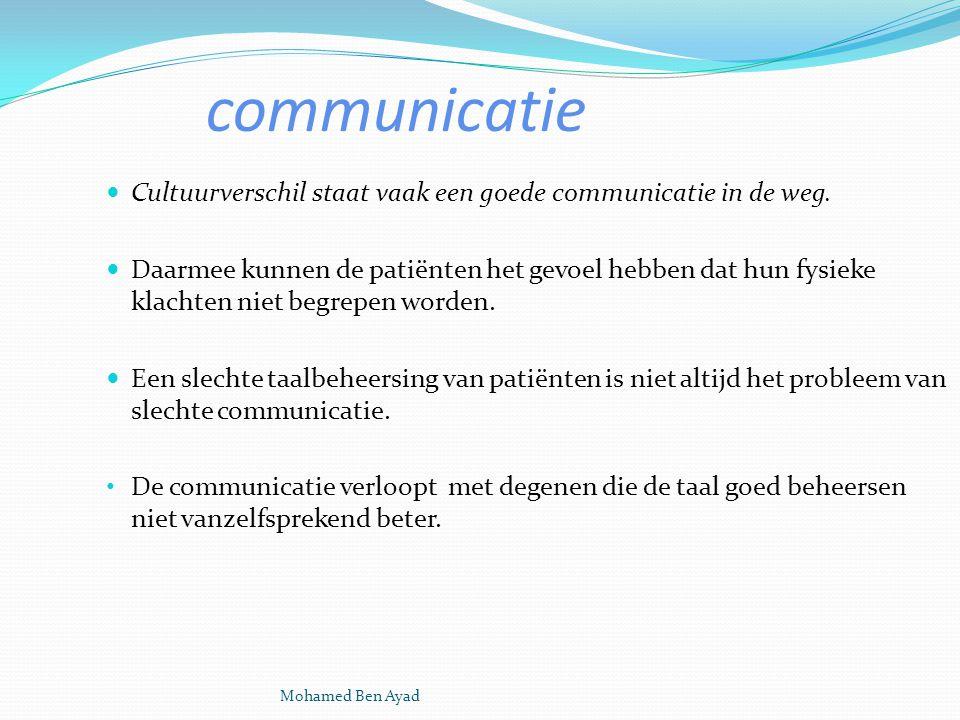 Mohamed Ben Ayad communicatie Cultuurverschil staat vaak een goede communicatie in de weg.