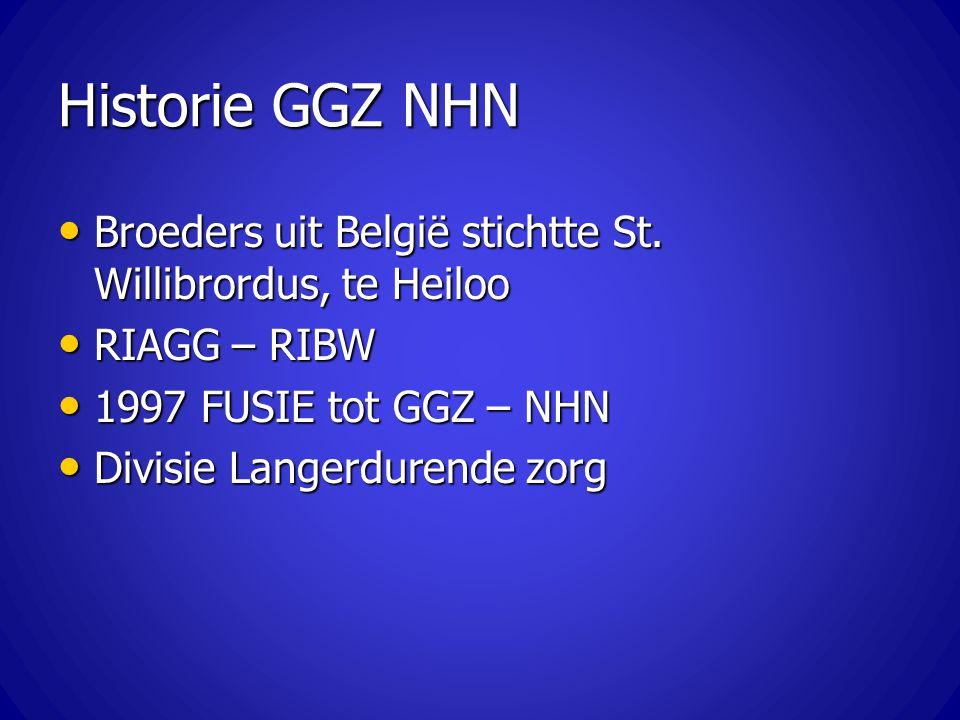 Historie GGZ NHN Broeders uit België stichtte St. Willibrordus, te Heiloo Broeders uit België stichtte St. Willibrordus, te Heiloo RIAGG – RIBW RIAGG