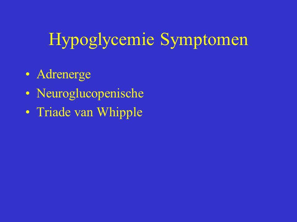 Hypoglycemie Symptomen Adrenerge Neuroglucopenische Triade van Whipple