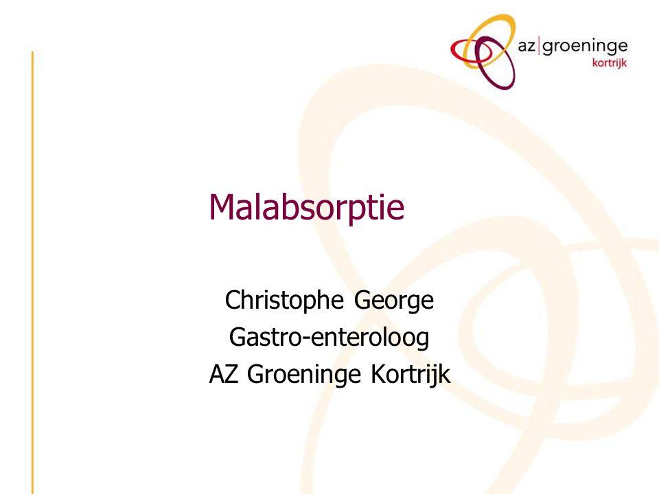 Malabsorptie Christophe George Gastro-enteroloog AZ Groeninge Kortrijk