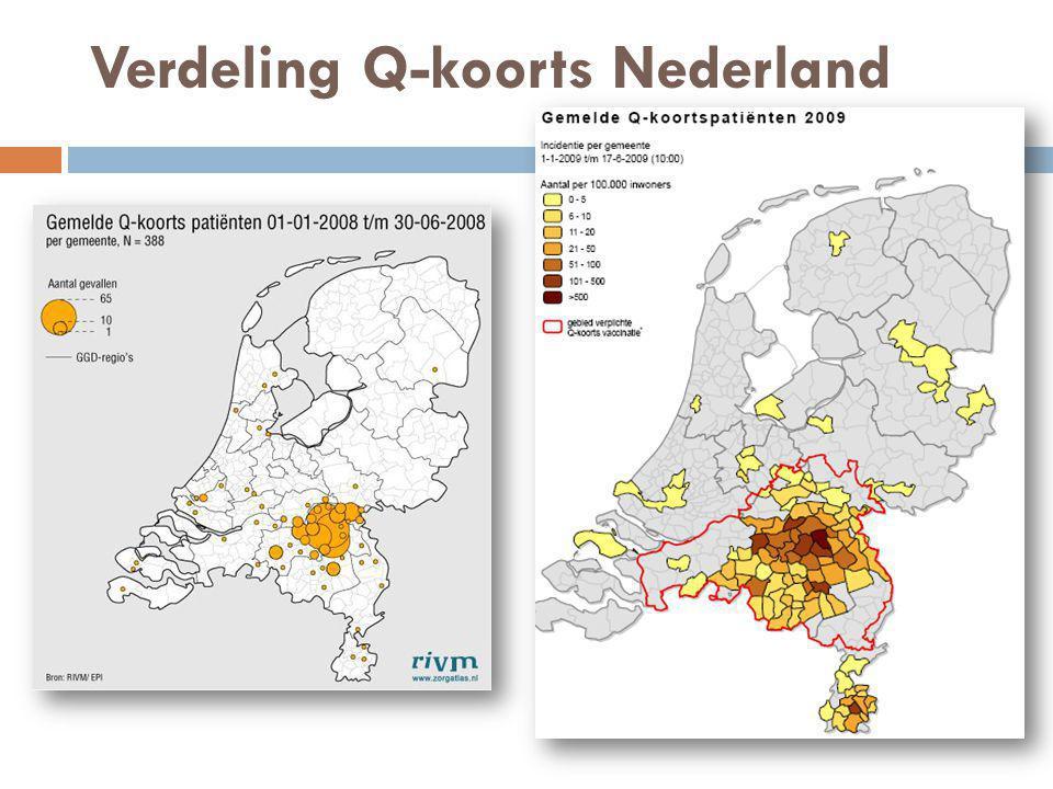 Verdeling Q-koorts Nederland