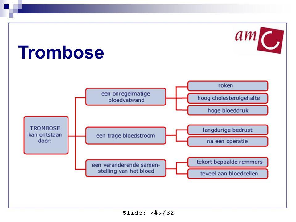 Slide: ‹#›/32 Trombose