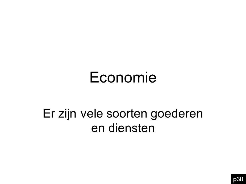 Economie Er zijn vele soorten goederen en diensten p30