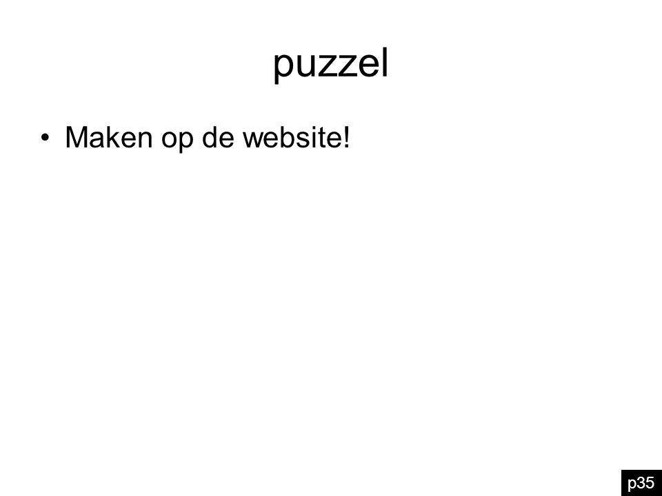 puzzel Maken op de website! p35