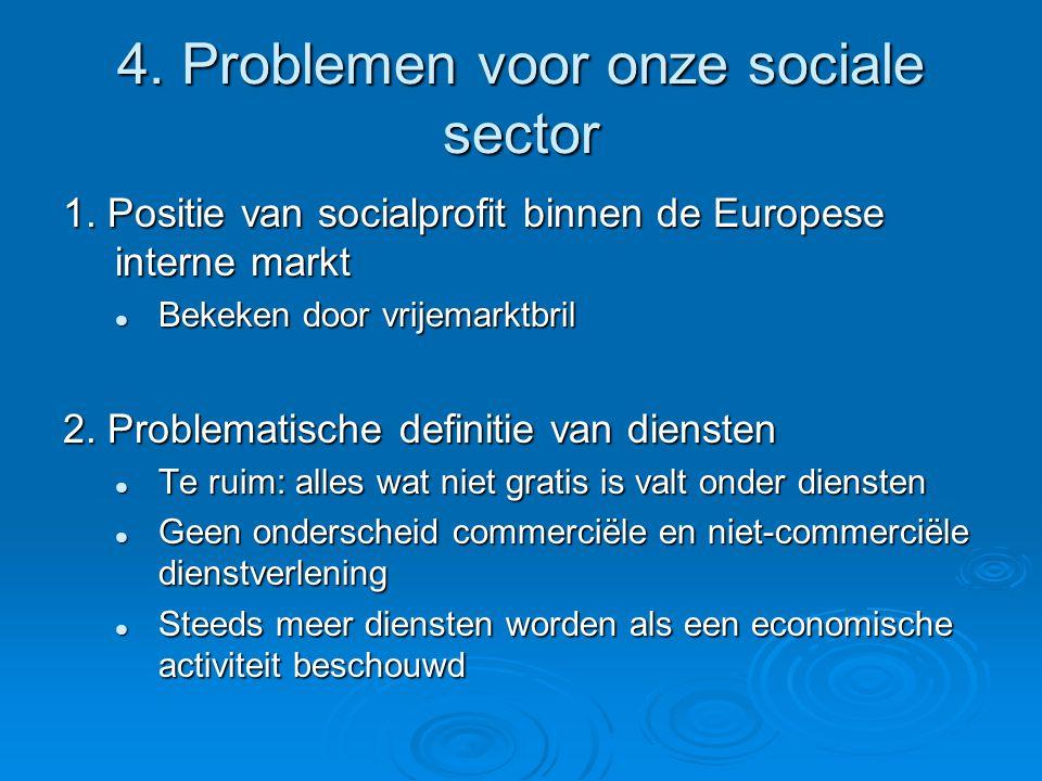 4. Problemen voor onze sociale sector 1.