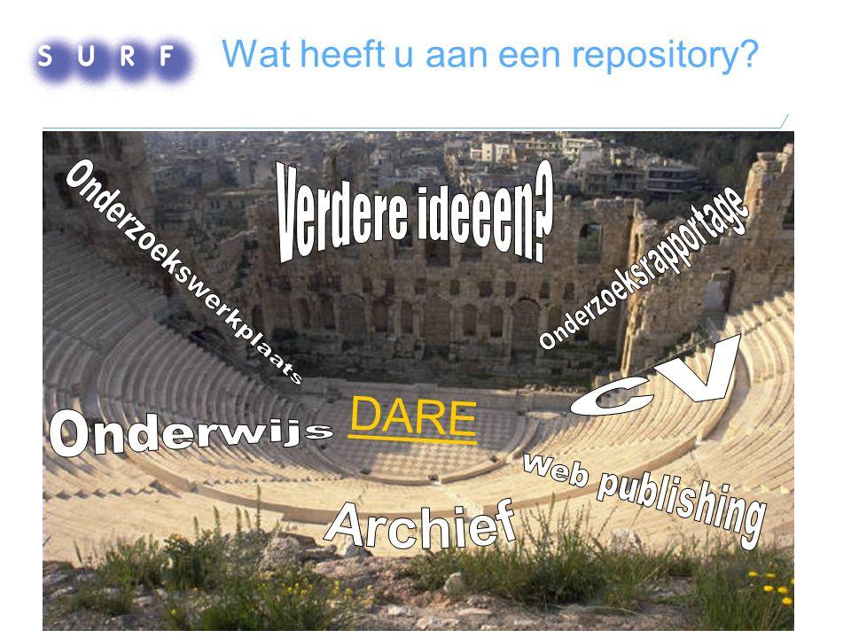 Wat heeft u aan een repository? DARE