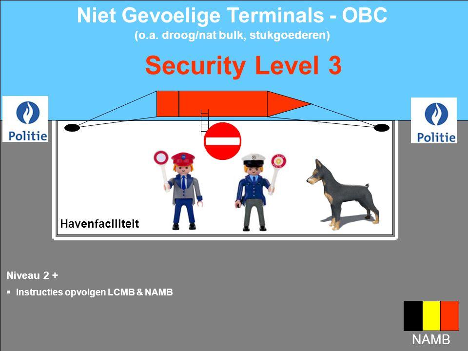 Havenfaciliteit Nivveau 1 +  Voor aankomst schip of max.