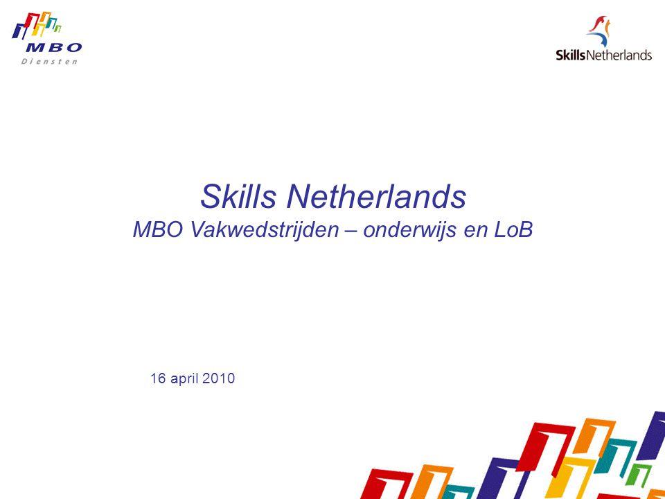 Skills Netherlands MBO Vakwedstrijden – onderwijs en LoB 16 april 2010