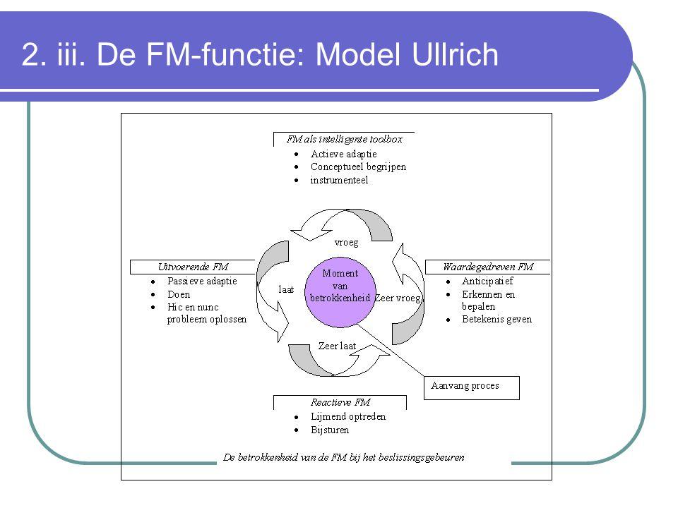 2. iii. De FM-functie: Model Ullrich