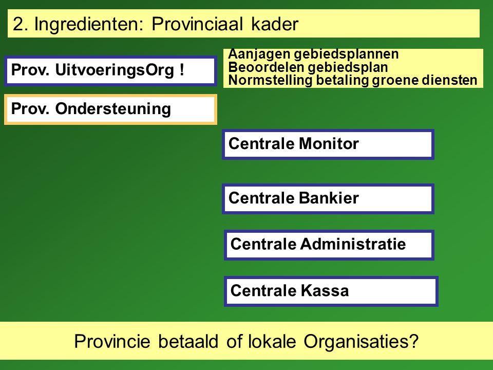 26-9-07 Locatie gewenste diensten Financieringsbehoeften Richtlijnen contracten Voor 1 of voor méér gebieden.