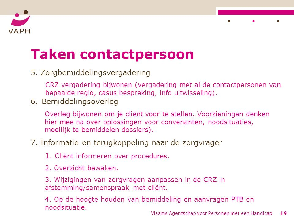 Taken contactpersoon 5.