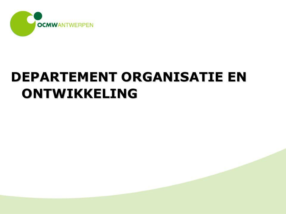 DEPARTEMENT ORGANISATIE EN ONTWIKKELING