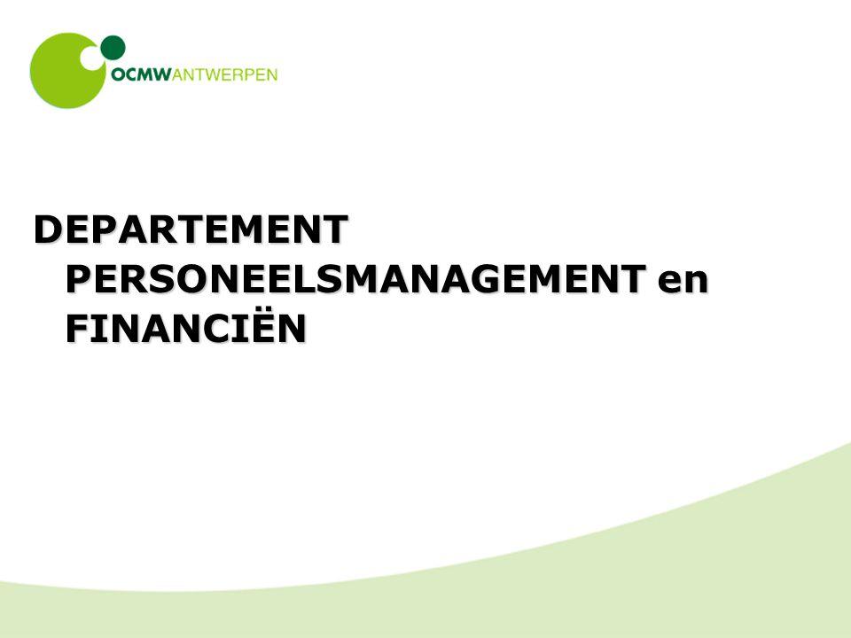DEPARTEMENT PERSONEELSMANAGEMENT en FINANCIËN