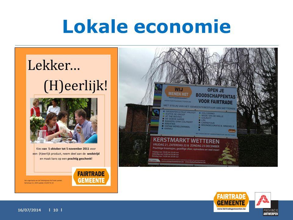 Lokale economie 16/07/2014 l 10 l
