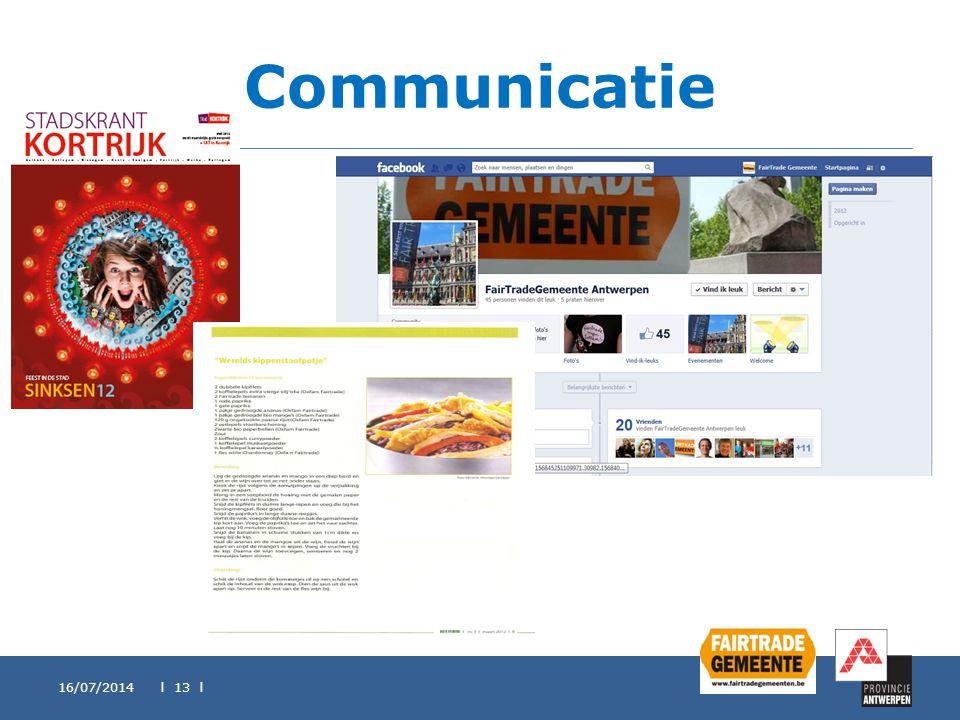 Communicatie 16/07/2014 l 13 l
