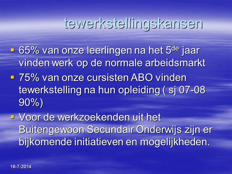 16-7-2014 Hervormingsbeleid voor personen met een handicap 01/10/08: Toekenning Bijzondere Tewerkstellings - Ondersteunende Maatregelen (BTOM) door VDAB