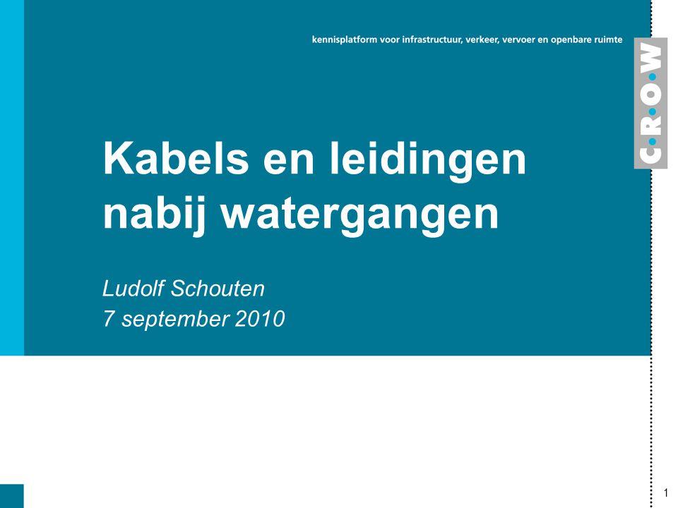 1 Kabels en leidingen nabij watergangen Ludolf Schouten 7 september 2010