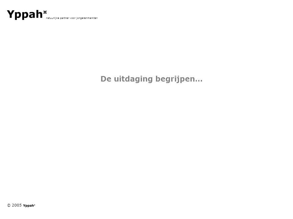 © 2005 natuurlijke partner voor jongerenmarkten De uitdaging begrijpen…