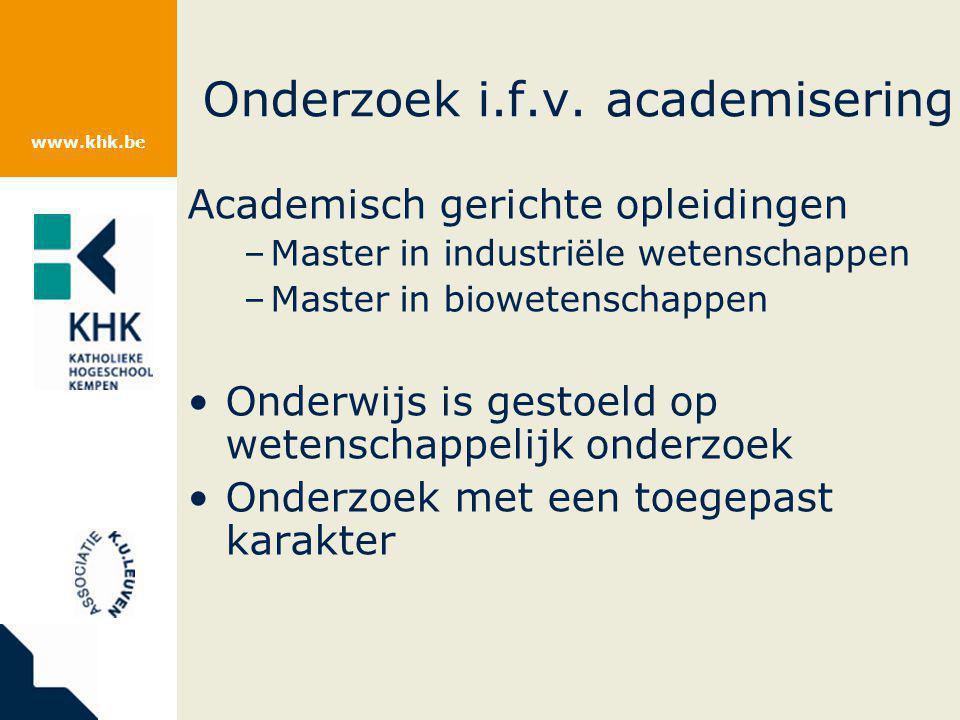 www.khk.be Onderzoek i.f.v.