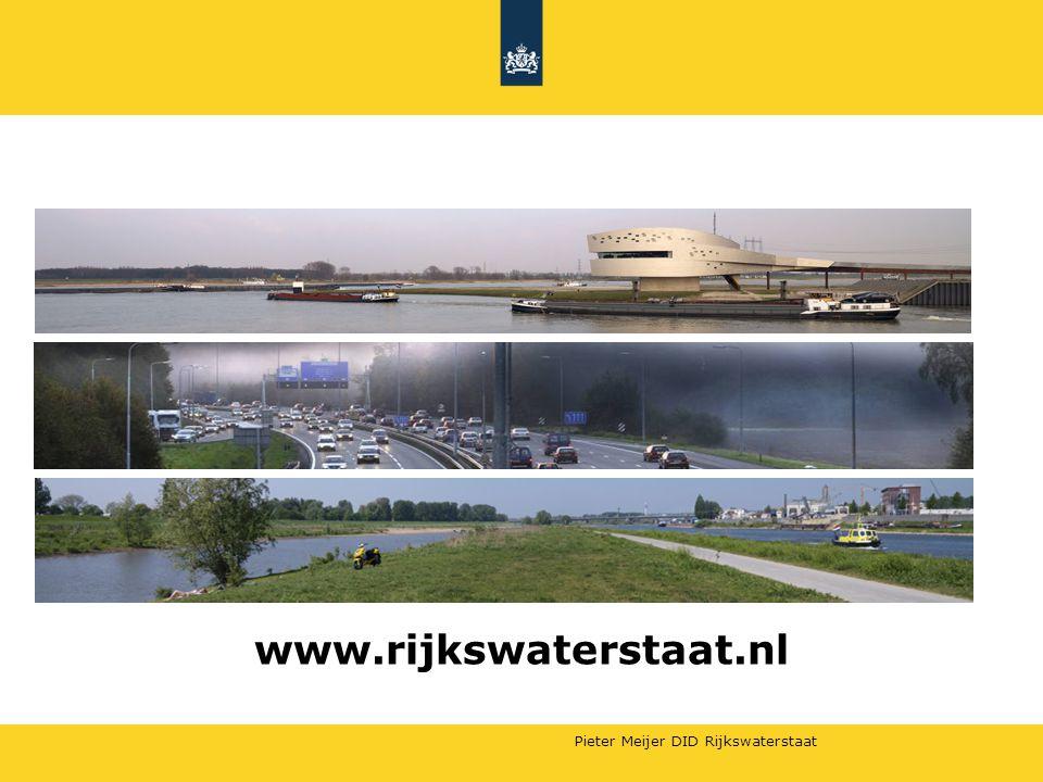 Pieter Meijer DID Rijkswaterstaat www.rijkswaterstaat.nl