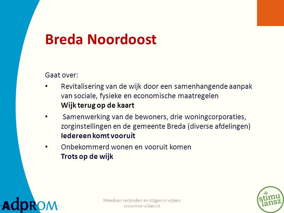 Breda Noordoost 1.typische jaren 60 wijk 2. ruim 19.000 inwoners 3.