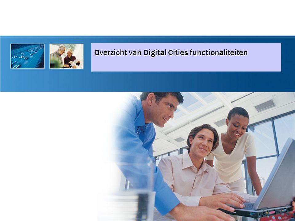 Overzicht van Digital Cities functionaliteiten