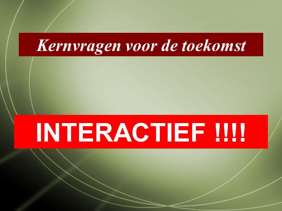 Kernvragen voor de toekomst INTERACTIEF !!!!