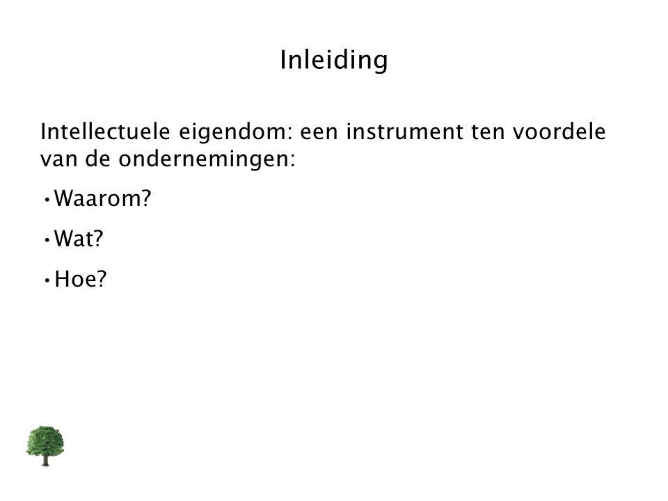 Inleiding Intellectuele eigendom: een instrument ten voordele van de ondernemingen: Waarom? Wat? Hoe?