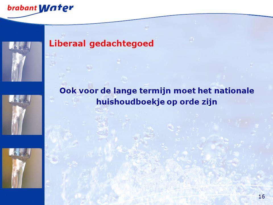 Liberaal gedachtegoed Ook voor de lange termijn moet het nationale huishoudboekje op orde zijn 16