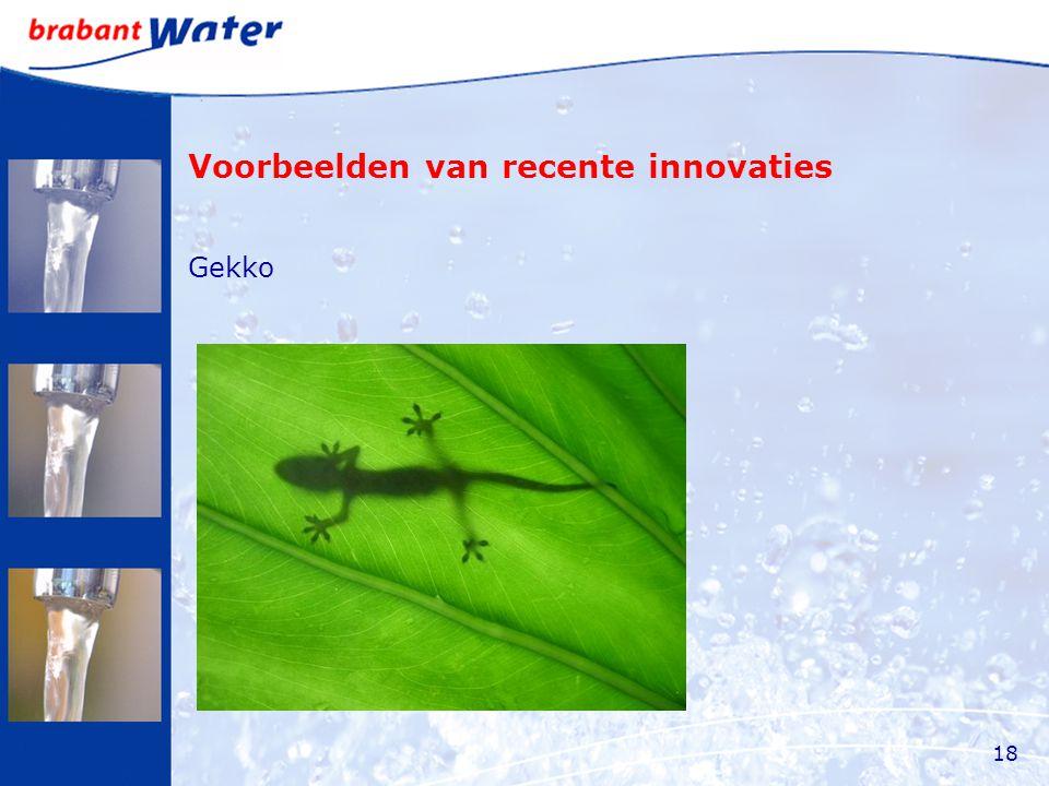 Voorbeelden van recente innovaties Gekko 18