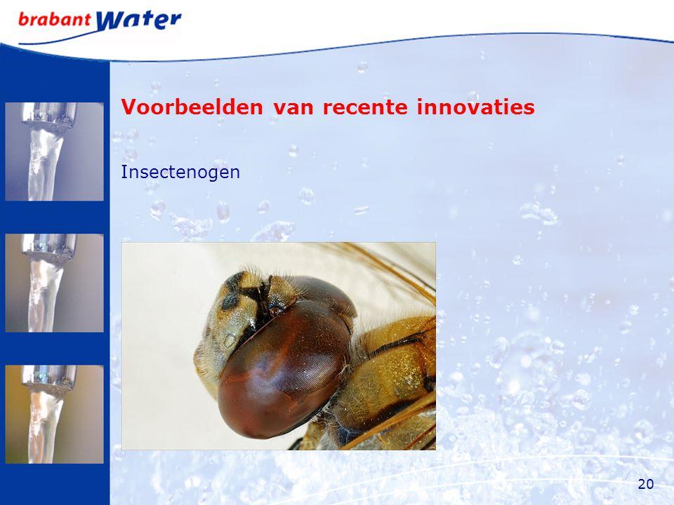 Voorbeelden van recente innovaties Insectenogen 20