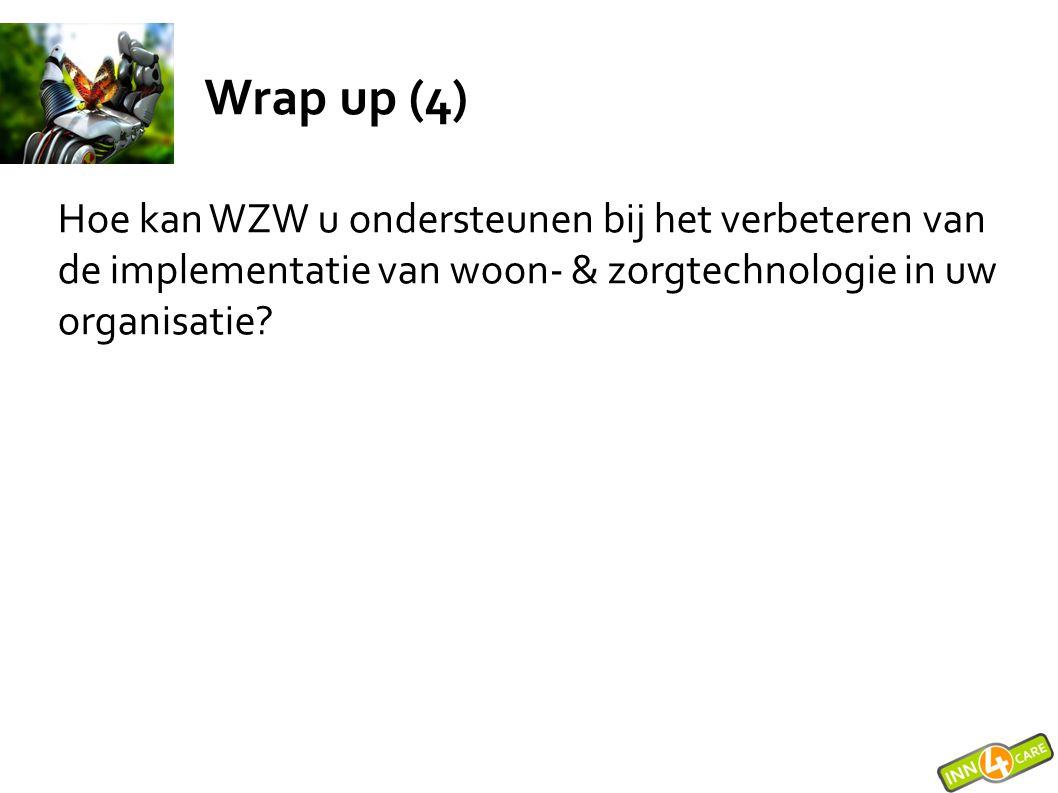 Wrap up (4) Hoe kan WZW u ondersteunen bij het verbeteren van de implementatie van woon- & zorgtechnologie in uw organisatie?