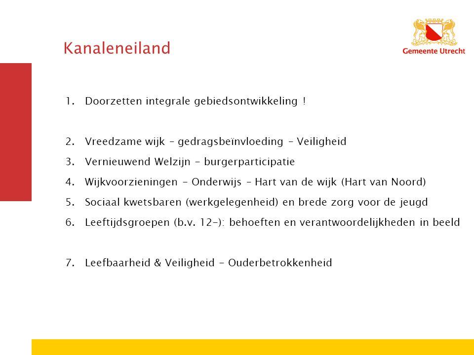 Kanaleneiland 1.Doorzetten integrale gebiedsontwikkeling .