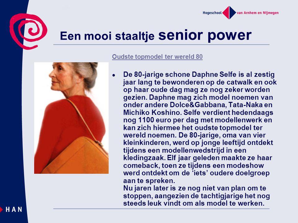 Een mooi staaltje senior power Oudste topmodel ter wereld 80 De 80-jarige schone Daphne Selfe is al zestig jaar lang te bewonderen op de catwalk en oo