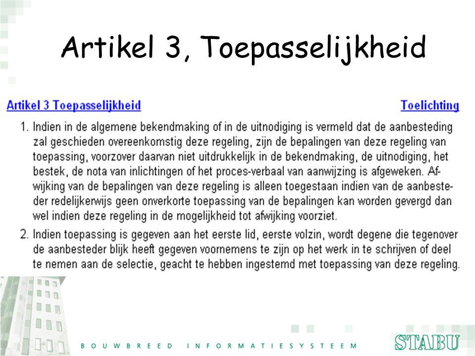 Artikel 3, Toepasselijkheid