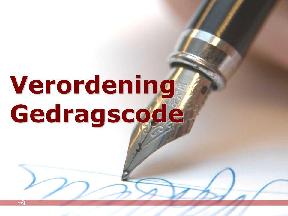 Verordening Gedragscode
