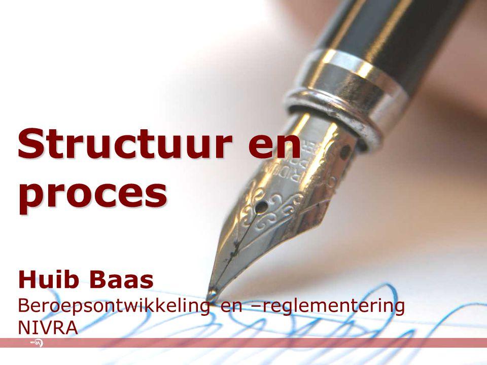 Structuur en proces Huib Baas Beroepsontwikkeling en –reglementering NIVRA
