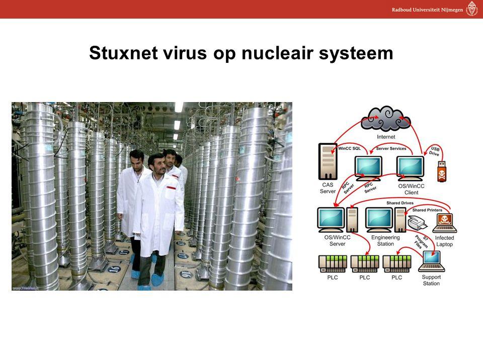 12 Stuxnet virus op nucleair systeem