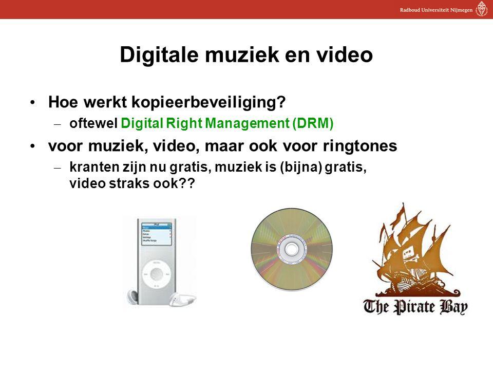 13 Digitale muziek en video Hoe werkt kopieerbeveiliging? – oftewel Digital Right Management (DRM) voor muziek, video, maar ook voor ringtones – krant