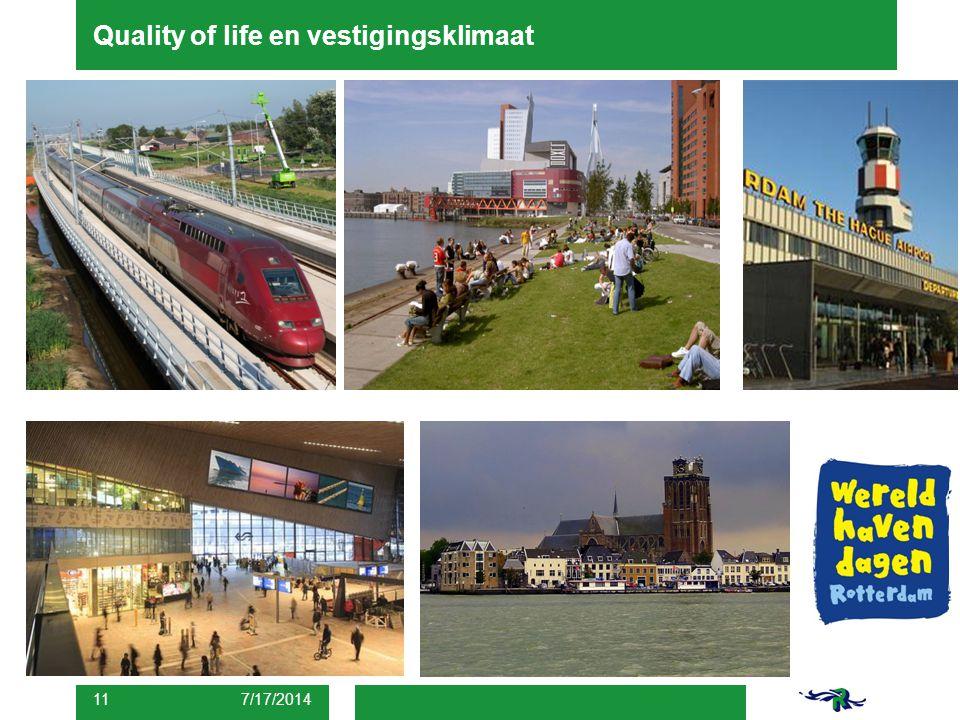 Quality of life en vestigingsklimaat 7/17/2014 11
