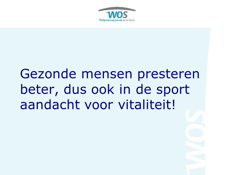Gezonde mensen presteren beter, dus ook in de sport aandacht voor vitaliteit!