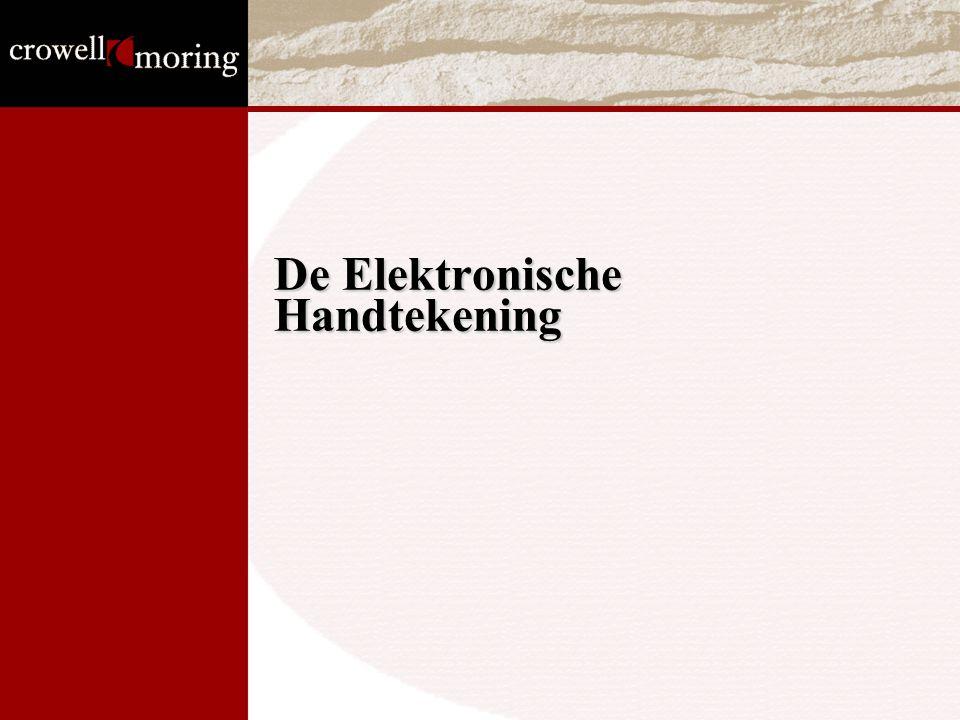 De Elektronische Handtekening