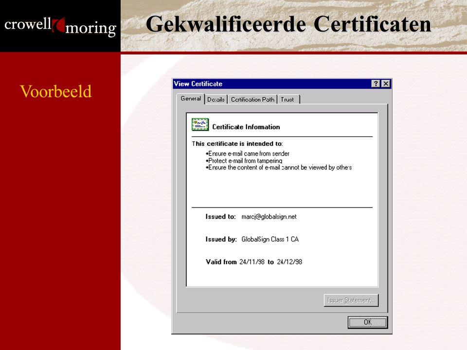 Gekwalificeerde Certificaten Voorbeeld
