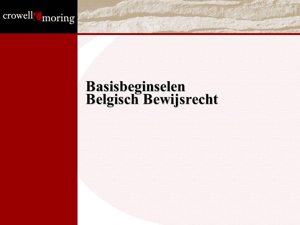 Basisbeginselen Belgisch Bewijsrecht