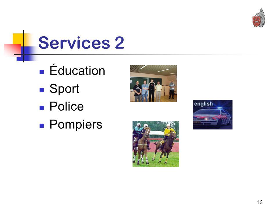 16 Services 2 Éducation Sport Police Pompiers
