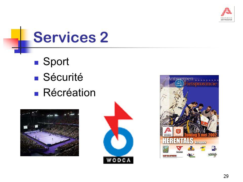 29 Services 2 Sport Sécurité Récréation