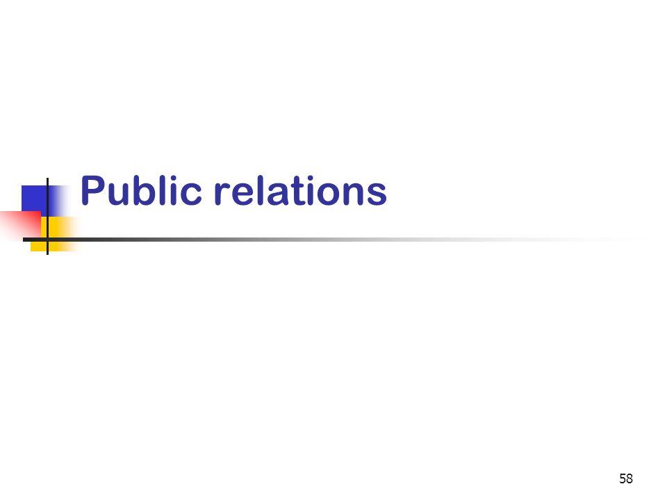58 Public relations