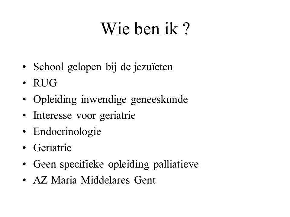 Inhoud Casus 1 Wie is een geriatrische patiënt Wat is een dienst geriatrie – werking .